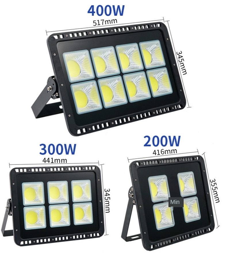 ac85 265v led flood light 50w 100w 150w 200w 300w 400w smd cob chips epistar floodlight landscape led ip65 waterproof light lamp 50W 100W 200W 300W 400W 500W 600W LED Flood Light 220V Floodlight Spotlight IP65 Waterproof Outdoor Garden Lamp for Playground