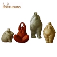 northeuins resin woman figurines nordic fat lady modern statuette bust statue interior home desk decoration christmas decor gift