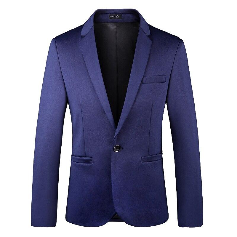 Брендовая одежда, Мужской Блейзер, модный мужской однотонный весенне-осенний костюм, куртка, деловой Повседневный стиль, мужские деловые бл...
