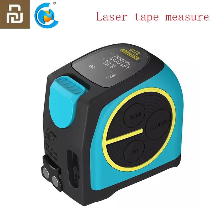 Telémetro Digital Youpin, cinta métrica láser 2 en 1, telémetro óptico con dígito de pantalla LCD, telémetro magnético, 2020