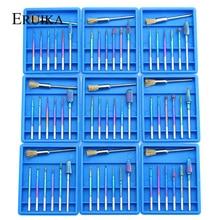 7pcs Rainbow Carbide Nail Drill Bit Diamond Milling Cutter Set for Electric Manicure Rotary Nail Pedicure Polish Remove Tools