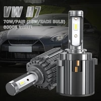 high quality 2x h7 70w led headlight kit canbus error free lamp 14000lm 6000k white fit for volkswagen for mercedes benz