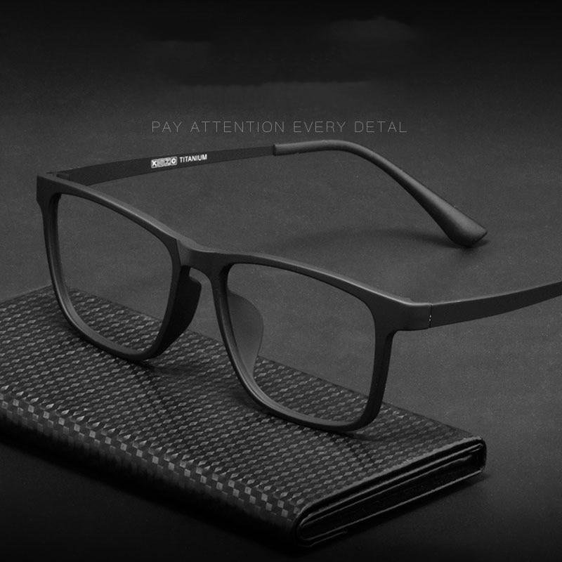 Optical Glasses Frame Men Ultralight Pure Titanium Women Transparent Square Big Prescription HR3068