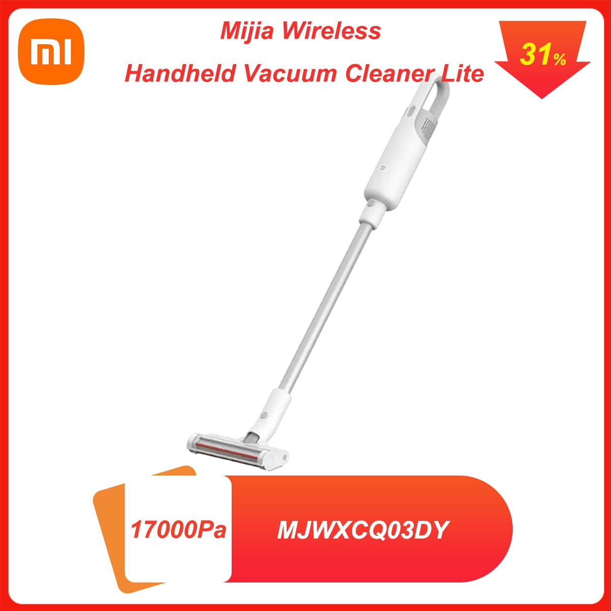 Xiaomi Mijia Wireless Handheld Vacuum Cleaner Lite 17000Pa Suction Low Noise Car Household with Multifunctional Brush CN Version