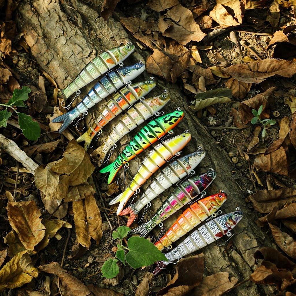 Señuelos de pesca duros de plástico, cebo bajo, 10 colores, equipo de...