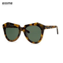 eoome KW-lady sunglass classical number one quality cat eye original design import bright tortoise c