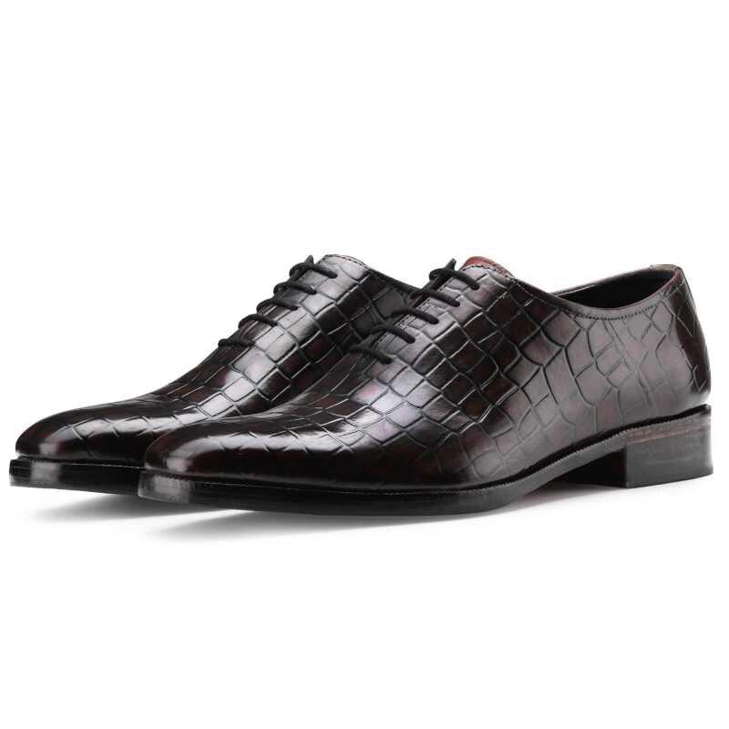 أكسفورد مصمم فستان الزفاف موضة أفضل حذاء رجالي فاخر العريس جلدية اليدوية حذاء رسمي للرجال