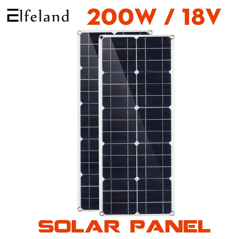 100W/200W 100A Controller Solar Panel Dual 12v/5v USB Waterproof Solar Cells Poly Solar Cells for Car Yacht RV Battery Charger