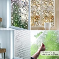 hot sale 1m glass stickers frosted opaque non adhesive bathroom 3d window film bedroom window privacy protection home decor