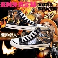 japanese anime attack on titan cosplay casual high platform shoes shingeki no kyojin canvas shoes for girls boys sports shoes