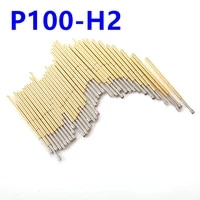 length 33 35mm with sharp angle needle head spring test probe p100 h2 brass electrical instrume tool for test circuit board