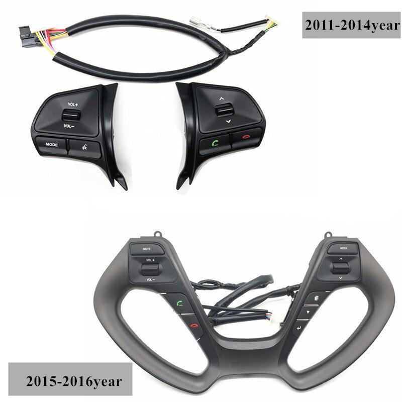 Pufeite preço de fábrica volante botões de controle áudio para kia k2 rio volume modo telefone interruptor botão estilo do carro