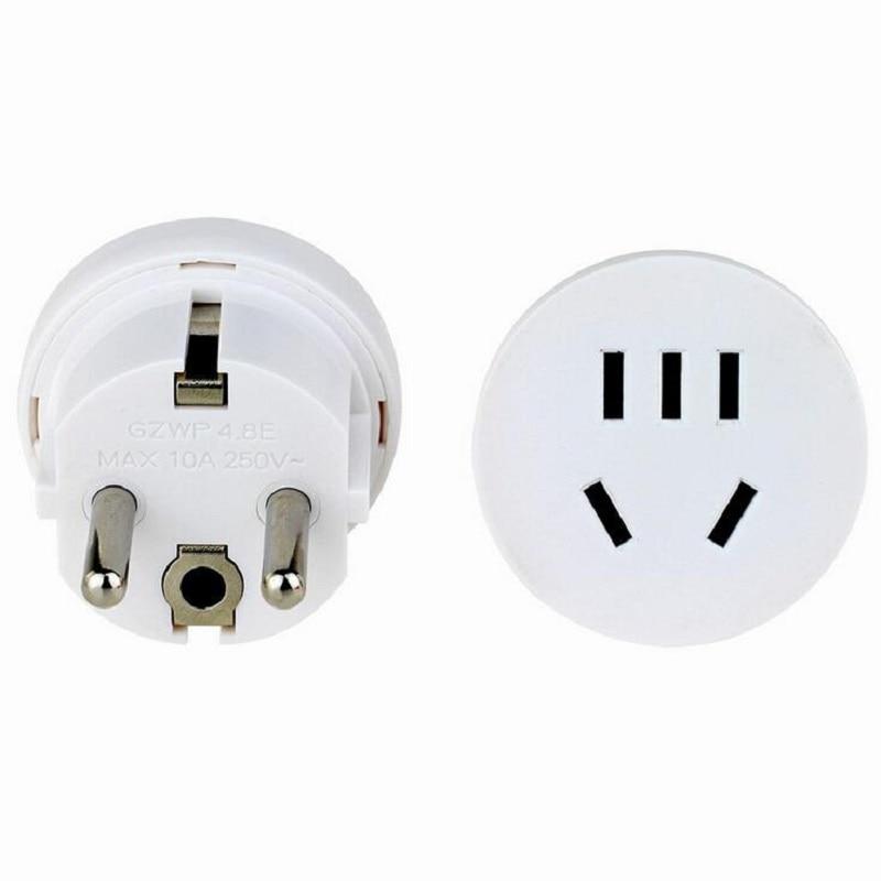 Eua para ue kr plug conversor adaptador de viagem tomada ac tomada de alimentação carregador de parede tomada elétrica au para ue plug adaptador
