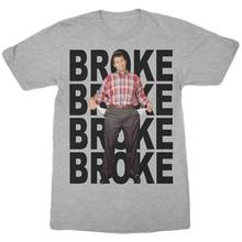Married With Children Al Bundy Broke T-Shirt Heather Grey Mens Retro Tv Show Tee Humorous Tee Shirt