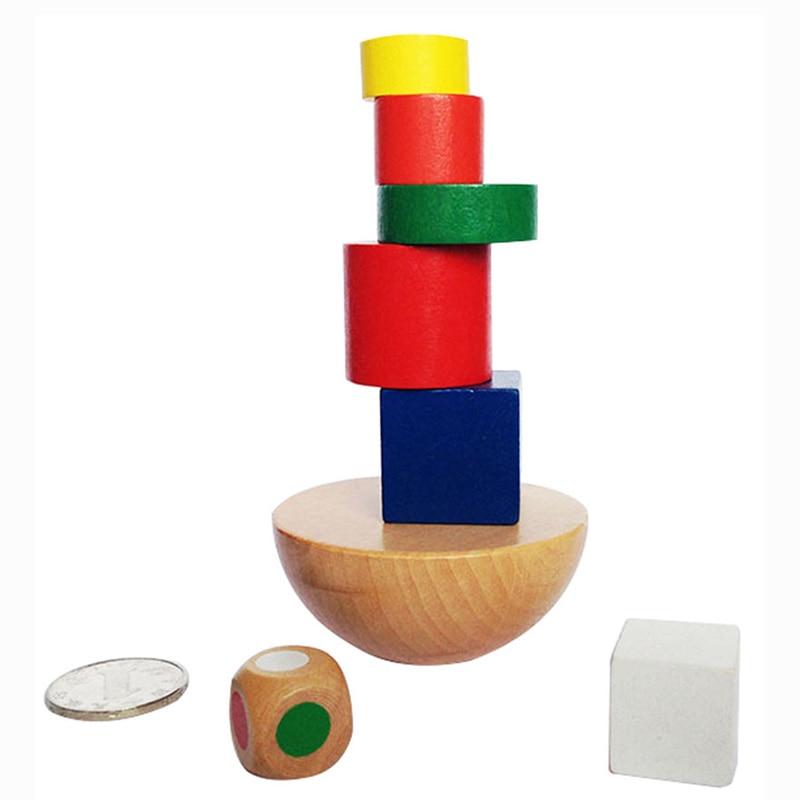 Настольная игра Balance Building, высококачественные красочные деревянные Семейные/вечерние лучший подарок для детей, забавная игра-головоломка с...