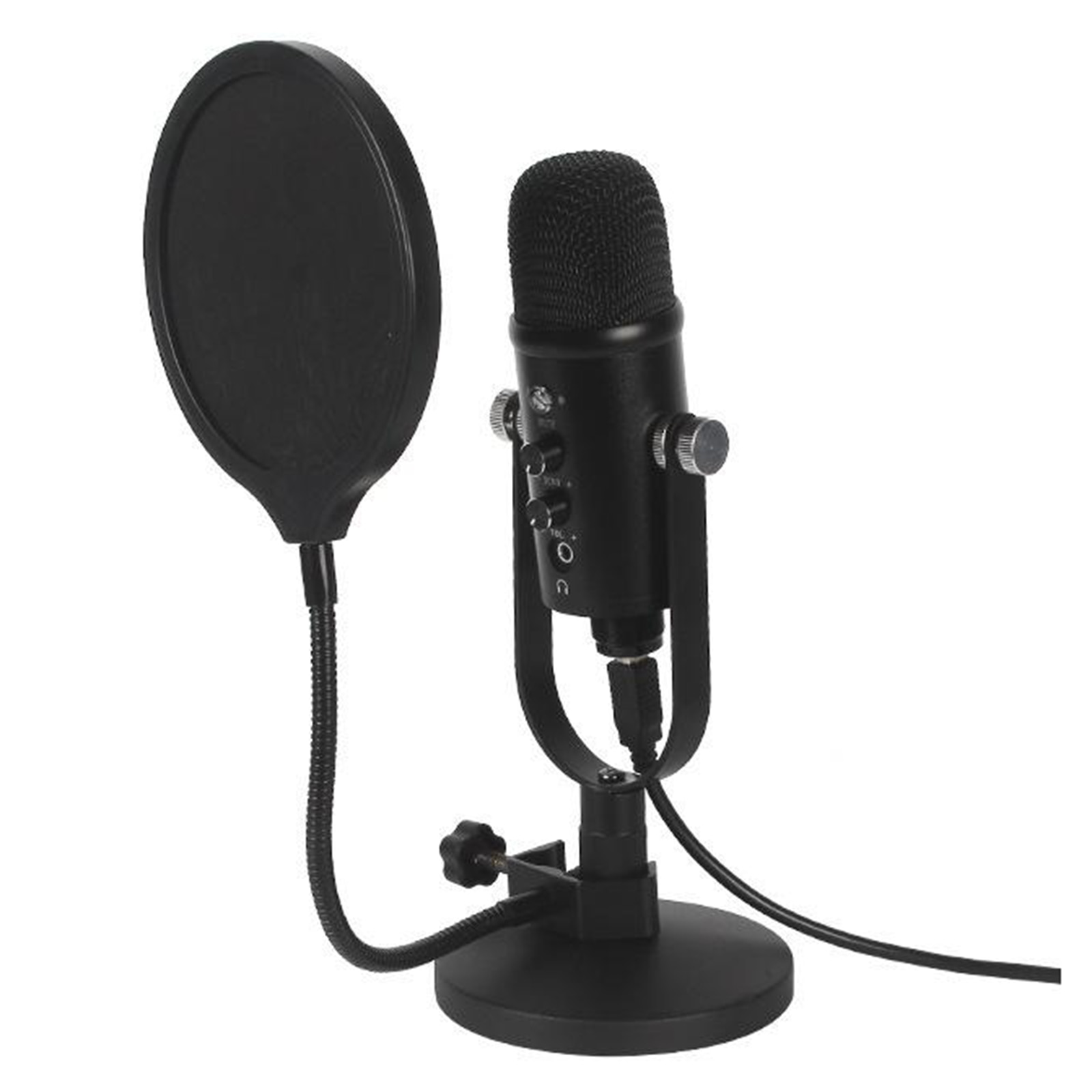 Professional USB Studio Condenser Microphone Desk Stand with  Filter enlarge