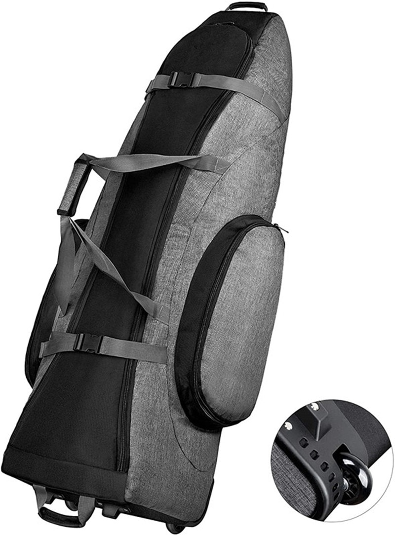 Padded Golf Club Travel Bag with Wheels, 900D Heavy Duty Oxford Waterproof -Alligators Large-capacity Standard Golf Bag