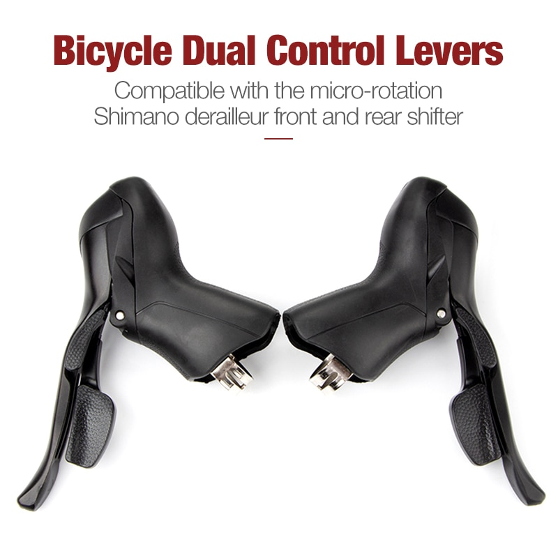 Bicycle Double Control Lever Highway Bike Gear Lever Suitable For Bicycles With 22.2-23.8mm Handlebars 2x10 Models Of 10-Speed