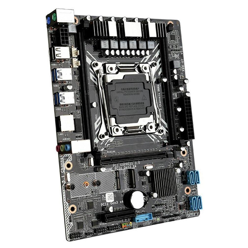 اللوحات الأم مع معالج Xeon E5-2620v3 LGA2011-3 Usb 3.0 X99 GT NVME M.2 SSD واي فاي دعم DDR4 ECC REG RAM