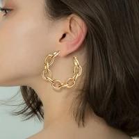 womens earrings gold round hoop drop earrings for women 2020 vintage statement geometric circle earrings trend female jewelry