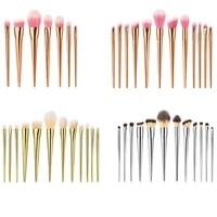 712pcs makeup brushes set electroplated plastic handle foundation blusher eye shadow tools high quality make up brush beauty
