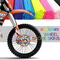 36pcs motorcycle bike garnish tube spoke skins covers wraps wheel rim guard protector 10 color can choose