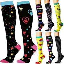 58 Styles Quality Unisex Compression Stockings Cycling Socks Fit For Edema, Diabetes, Varicose Veins
