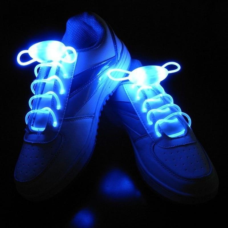 LED Luminous Shoelaces Tie Shoelaces Semicircle Shoe Laces For Kids and Adult Sneakers Quick Lazy Lo