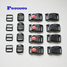 Boucle de ceinture courbée à trois glisses   Pour les sacs de collier de chien, paracord chat, accessoires de bricolage, 15mm 20mm 25mm 1 pièce