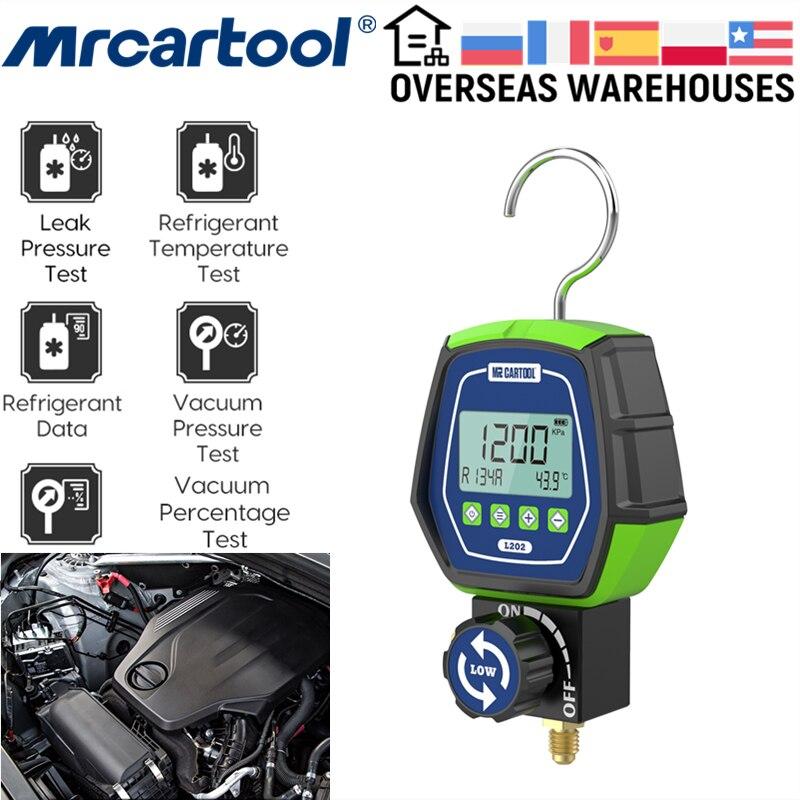 MRCARTOOL L202 تكييف الهواء المبردات HVAC فراغ الضغط المنوع درجة الحرارة اختبار التسرب التبريد 90 المبردات
