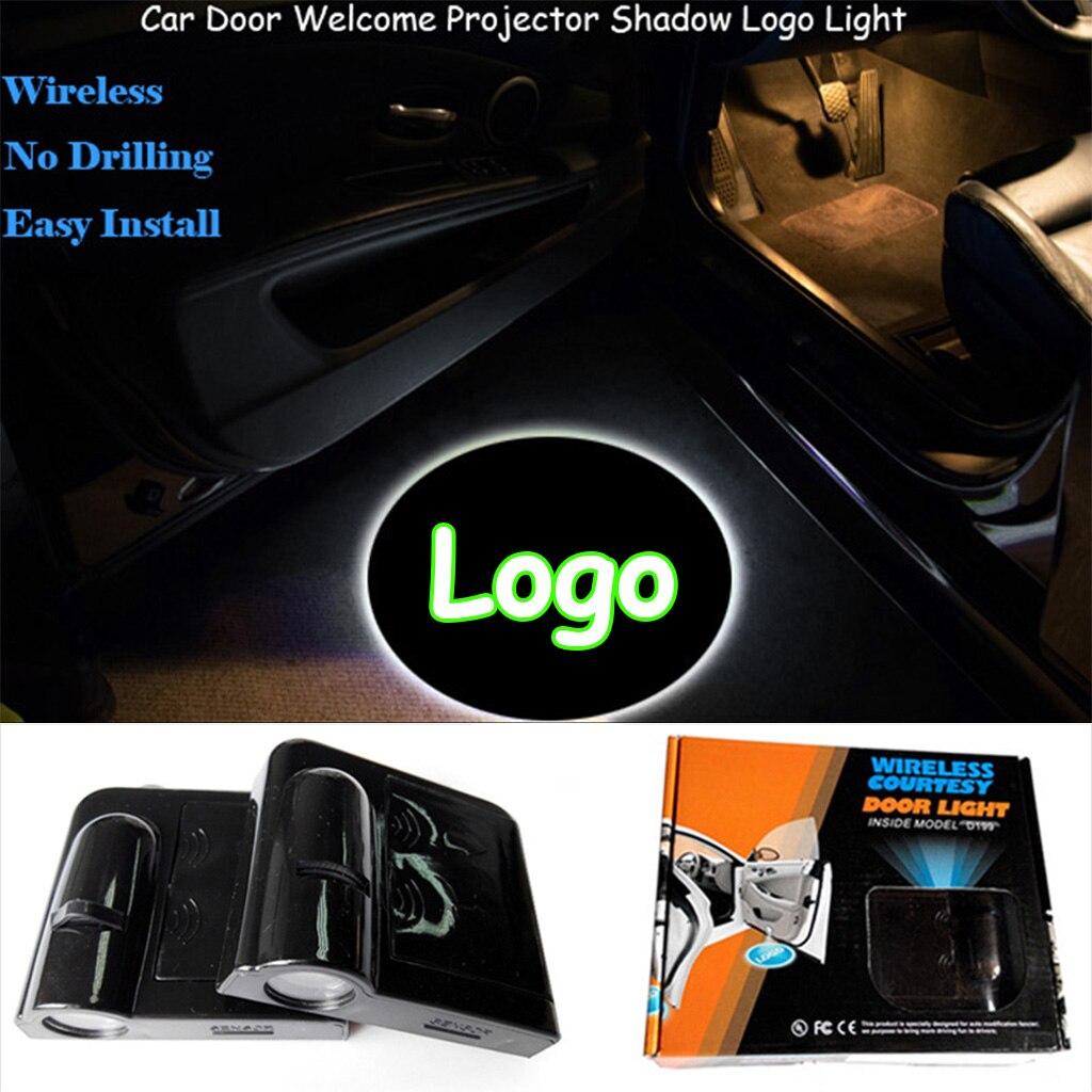 2 stücke Drahtlose Auto Tür Logo Laser Projektor LED Schatten Lichter Universal