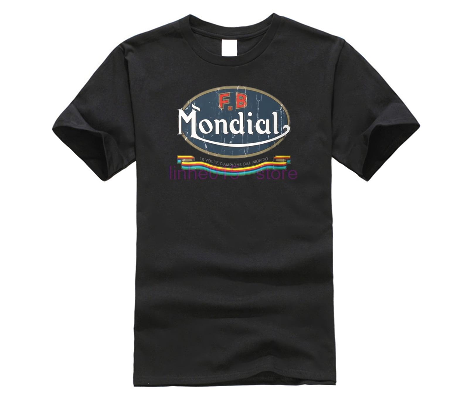 Camiseta divertida de manga corta de algodón para hombre, camiseta para hombre, motondial Fb Ribbon Schwarz Unverwechselt