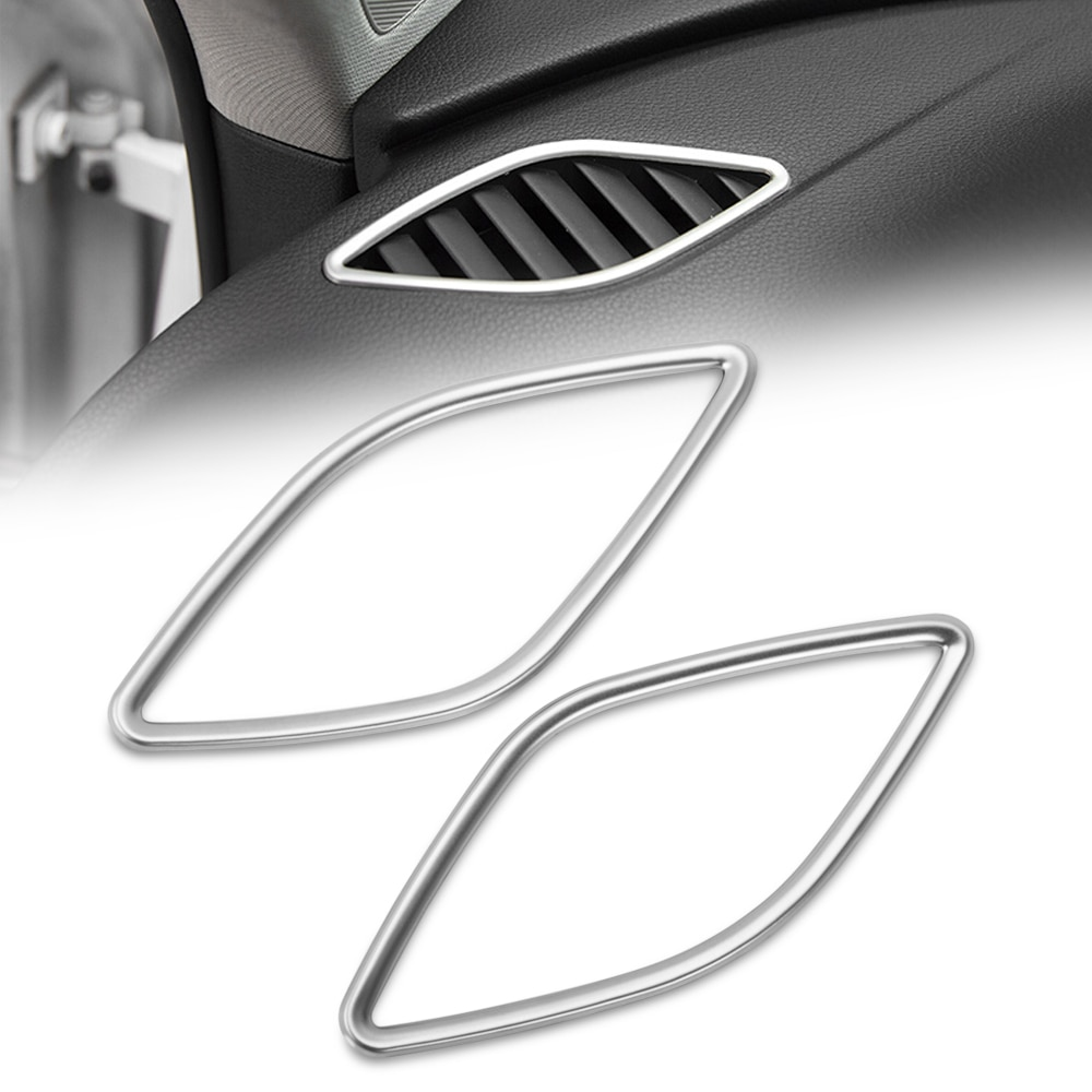 Para coche Audi A3 instrumento de diseño de Panel de ventilación Marco de salida 8 V sedán Hatchback Sportback e-tron Sedan 2013-2015