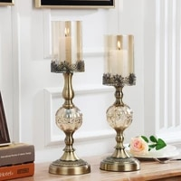 european modern candlestick holder hanukkah menorah mould gold luxury candlestick holder dekoracje slubne room decor yd50zt
