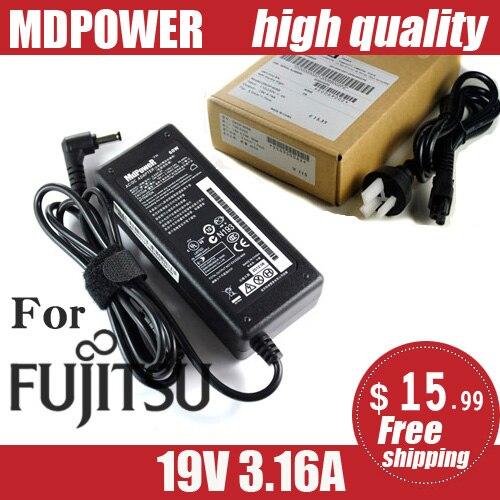 Para Fujitsu LifeBook S710 S7110 S7111 S751 S752 S760 S761 S762 S782 S792 SH560 SH561 572 fonte de alimentação Portátil Carregador Adaptador AC