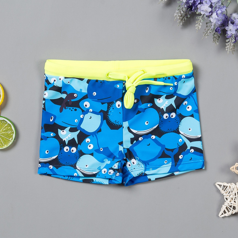 Bañadores de baño niños tortuga traje de baño 2019 nuevo 4-9Y niño niños traje de baño Trunk Beachwear niños traje de baño