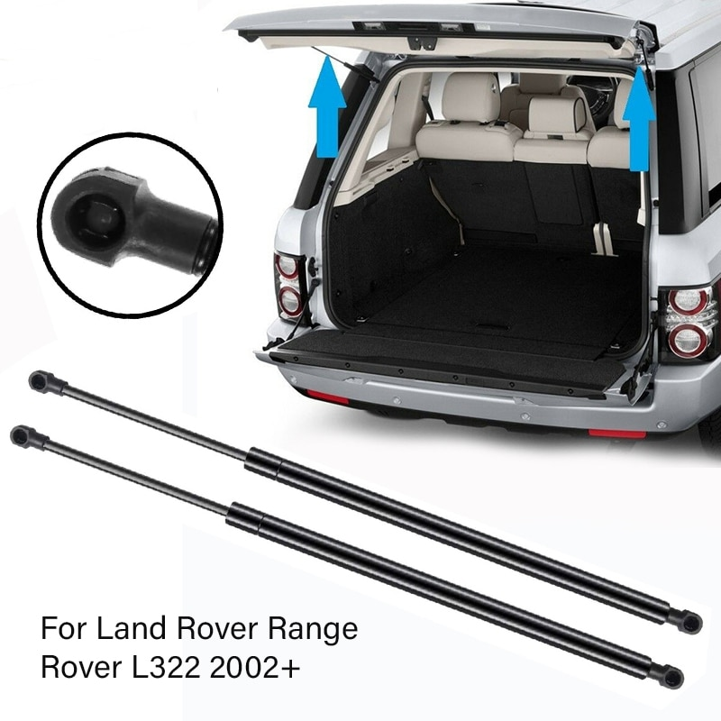 2Pcs Car Rear Upper Tailgate Boot Shock Lift Struts Bar Gas Struts Support for Range Rover L322 2002+ BHE760020 erick s wiper 2pcs front windshield wiper arm lock clip fixing retaining clips for land rover range rover l322 2002 2012