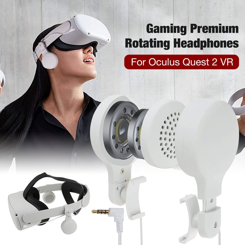 Headset Premium Rotating Headphones for Oculus Quest 2 360 Degree Rotation Up and Down Telescopic Adjustment Earphone