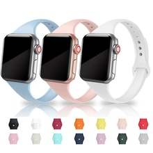 Band Voor Apple Horloge 5 4 44 Mm 40 Mm Band Sport Siliconen Armband Horloge Band Voor Iwatch Serie 3/2/1 38 Mm 42 Mm Accessoires