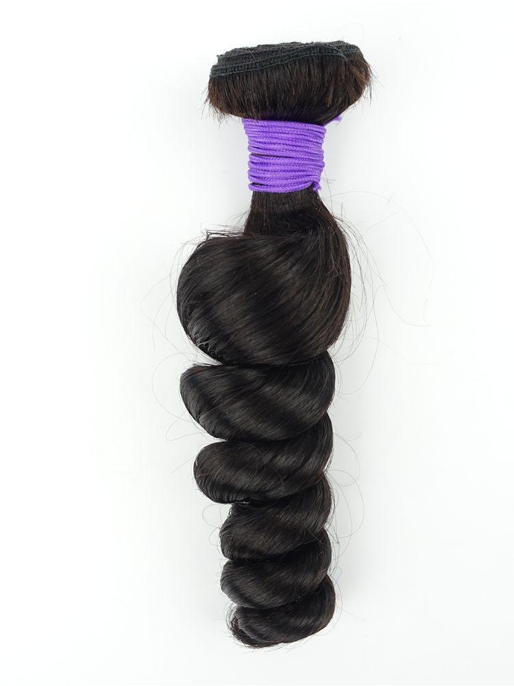 Capelli umani brasiliani allentati 1 fasci estensioni della trama del tessuto dei capelli vergini colore naturale 1B