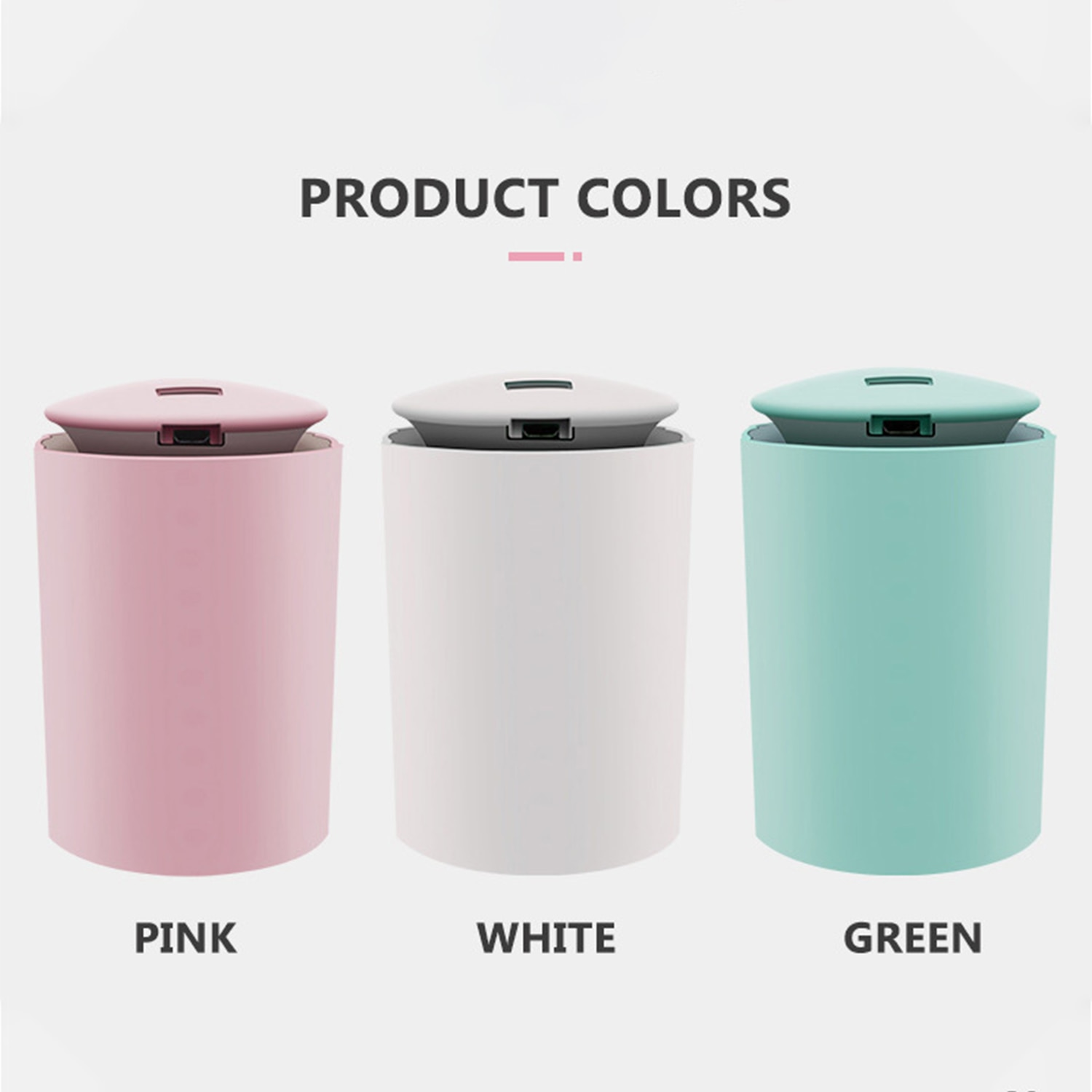 260mL Mist Air Humidifier Diffuser with LED Light Quiet Car Humidifier Essential Oil Diffuser for Bedroom USB aroma diffuser