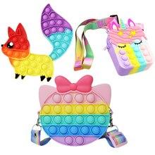 Popet Fidget Reliver giocattolo Antistress arcobaleno Push Pop Bubble giocattoli Antistress sensoriali bambini adulti allevia l'autismo f)dhеt Тоуѕ поп ит