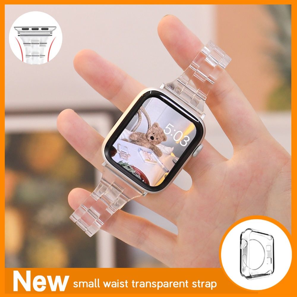 Тонкий прозрачный желеобразный ремешок для Apple Watch 44 мм 40 мм серии Se/654, прозрачный ремешок для смарт-часов Iwatch 123 38 мм 42 мм, браслет для часов ремешок для смарт часов eva ava001 для apple watch 38 мм розовый