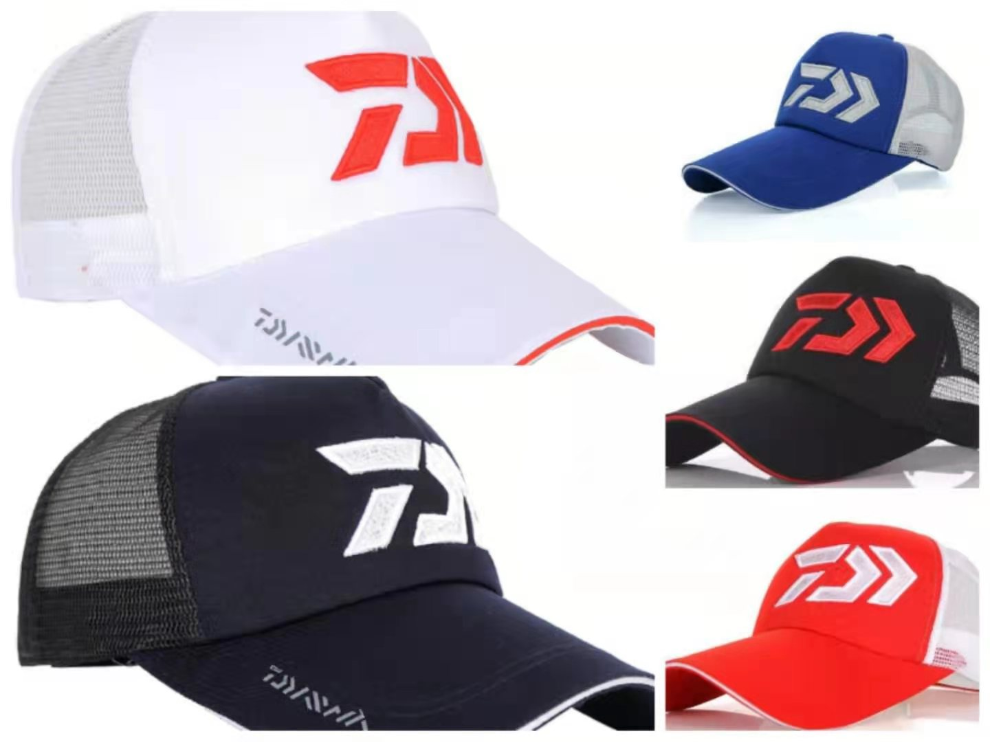 Wholesale Daiwa Sunshade Fishing Cap for Men Outdoor Sport Baseball Fishermen Hat Couple Fishing Hat