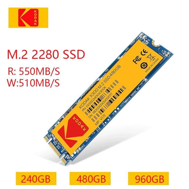 Kodak X300 M.2 SSD M2 240GB 2280 480GB 960GB Solid State Drive Internal Hard Disk HDD for Lenovo Acer Xiaomi Laptop Desktop