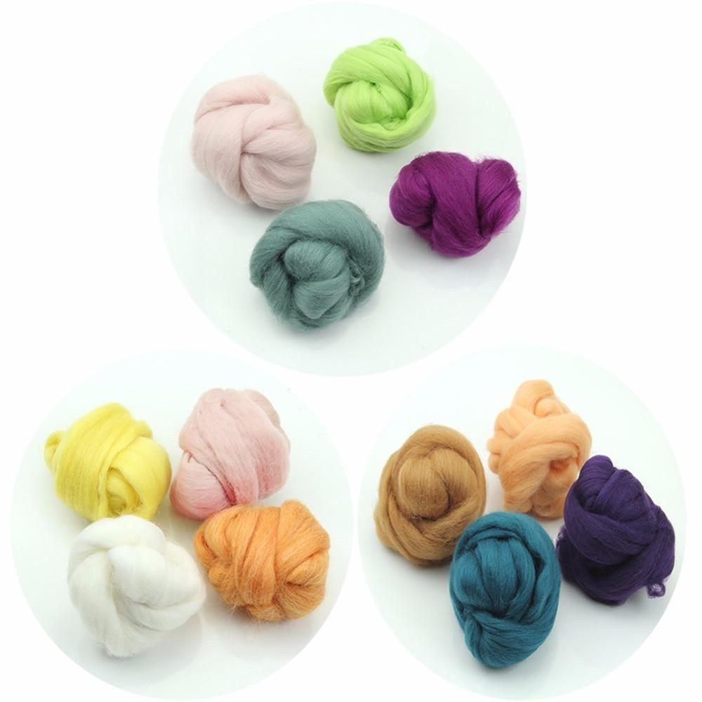 Tejido de punto de lana de punto teñido de punto de fibra de fieltro mojada agradable