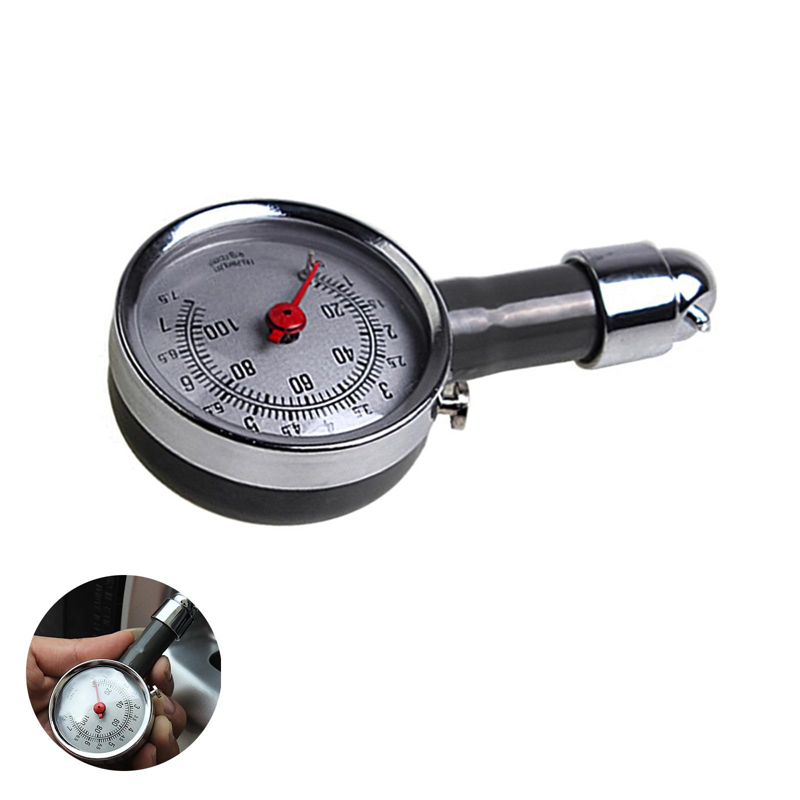 Шины для легковых автомобилей Давление датчик Круглый циферблат шин Давление измерительный инструмент шин измерительный прибор с 45-градус...