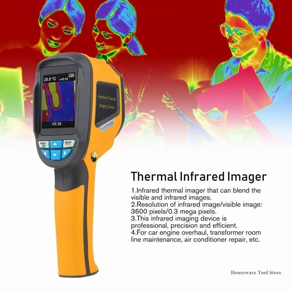 Câmera de Imagem Novo Handheld Térmica 1024p Display Digital Imagem Infravermelha Ht-02d ir