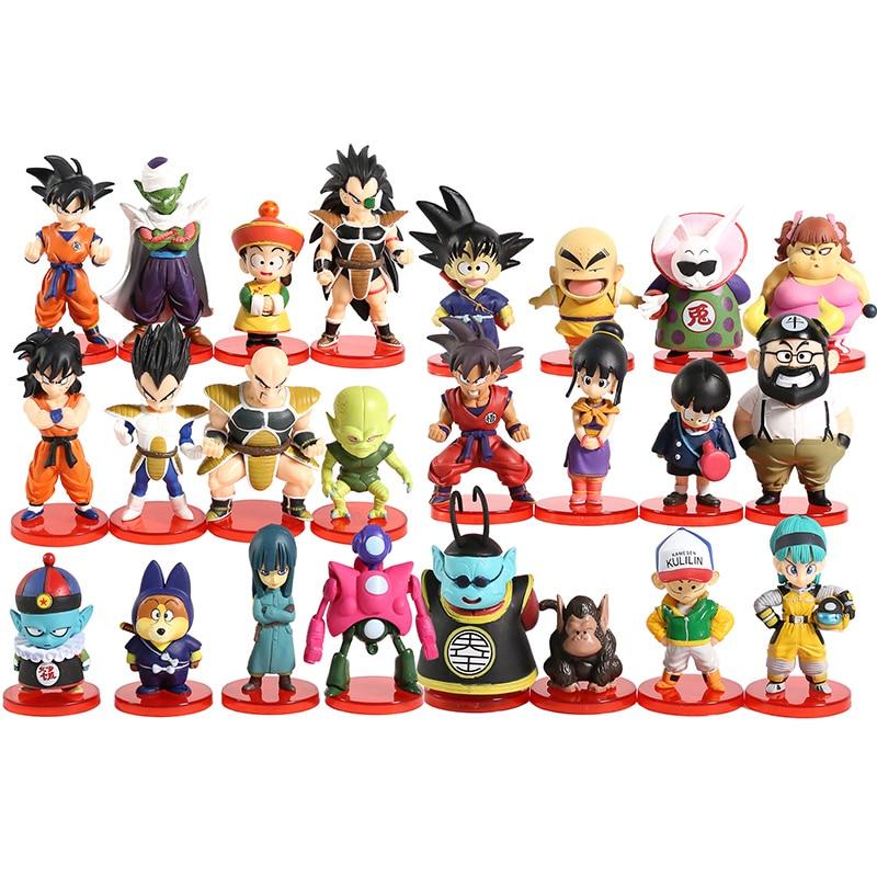 Dragon Ball Super DWC Vol.1 ~ 4 Goku Gohan Bulma Krillin Kaio bulles Frieza Chichi Pilaf Raditz Piccolo figurines jouets 8 pièces/ensemble