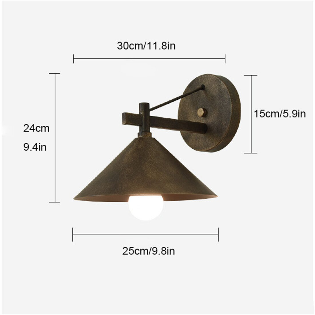 Matte Black Modern Farmhouse Outdoor Wall Sconce Classic Indoor Barn Lights with E27 LED bulb for House, Front Porch enlarge